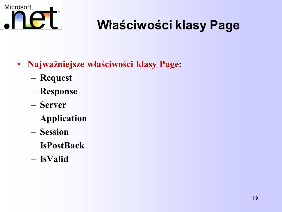 Właściwości klasy Page