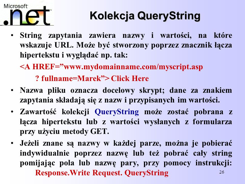Kolekcja QueryString