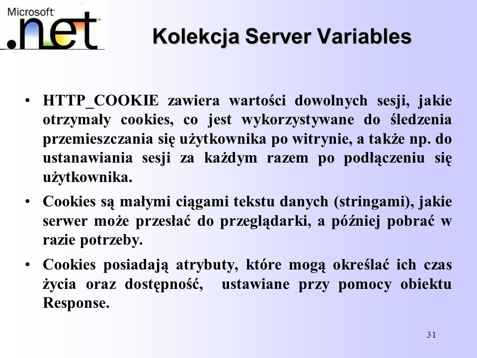 Kolekcja Server Variables