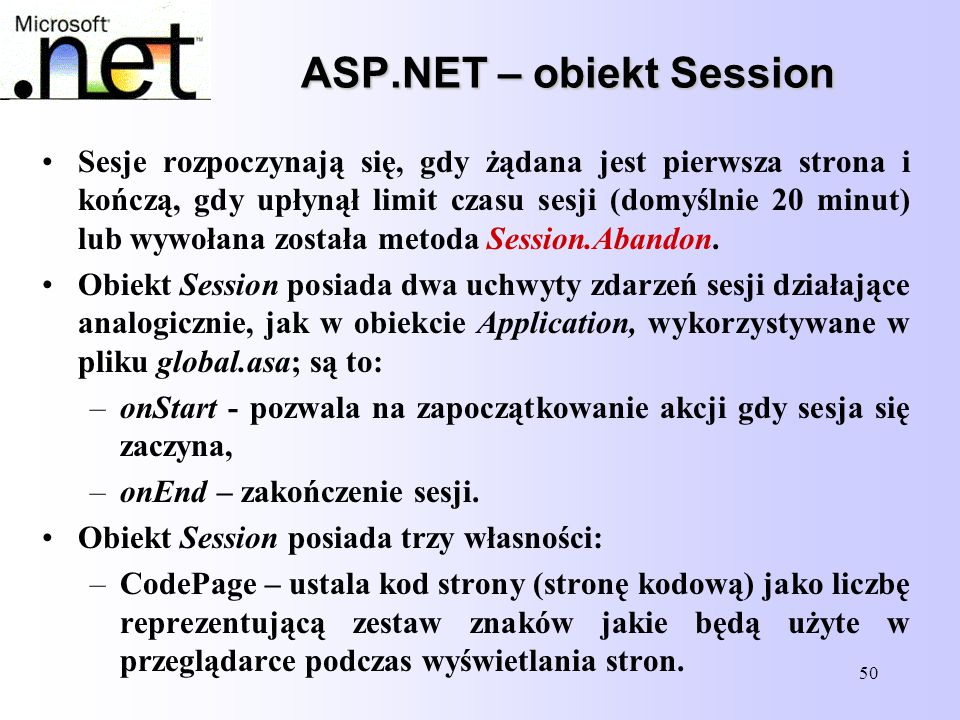 ASP.NET – obiekt Session