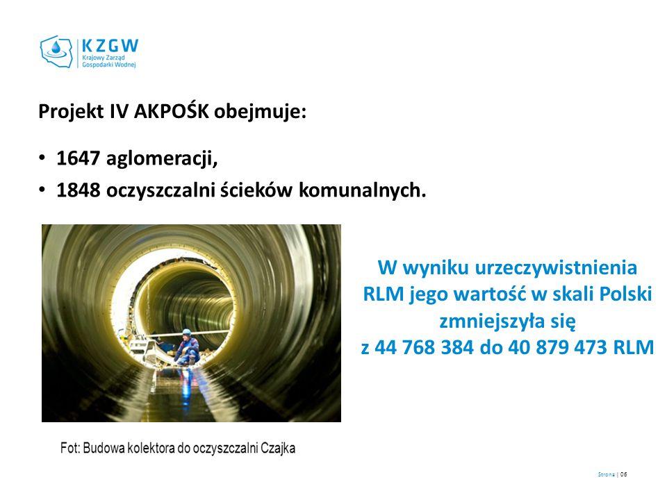Projekt IV AKPOŚK obejmuje:
