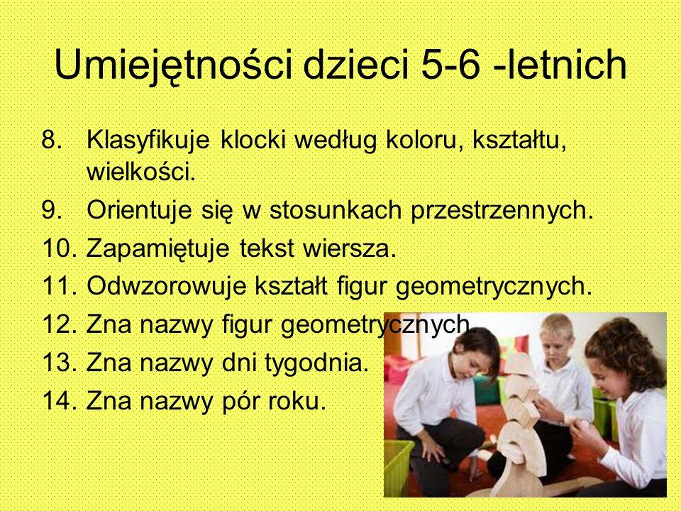 Umiejętności dzieci 5-6 -letnich