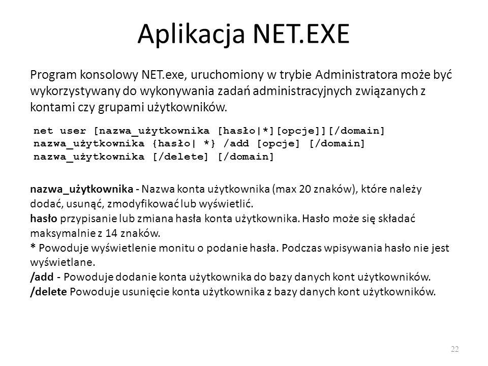 Aplikacja NET.EXE
