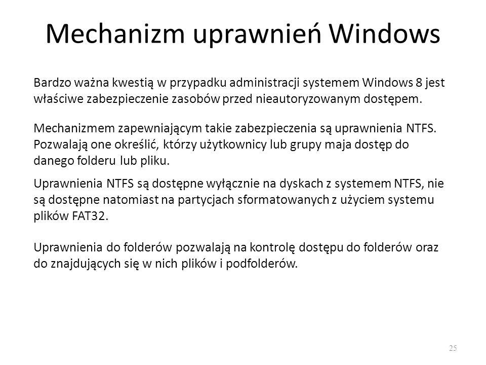 Mechanizm uprawnień Windows