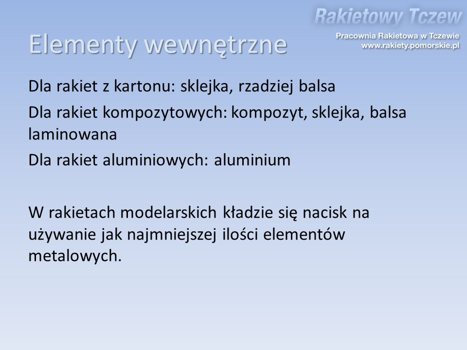 Elementy wewnętrzne