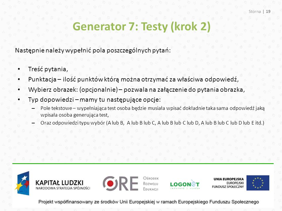 Generator 7: Testy (krok 2)