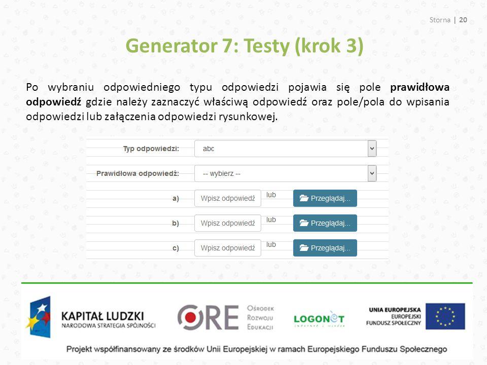 Generator 7: Testy (krok 3)