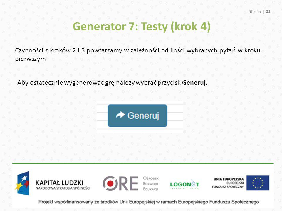 Generator 7: Testy (krok 4)