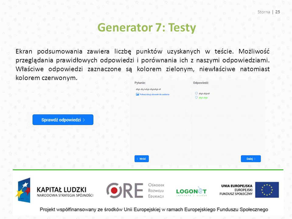 Generator 7: Testy