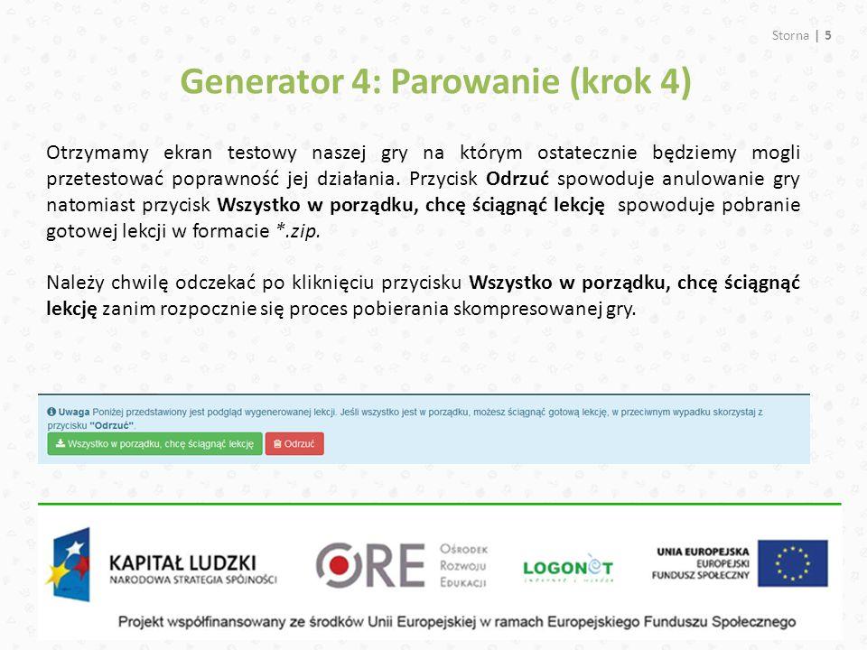 Generator 4: Parowanie (krok 4)