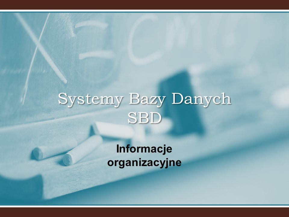 Systemy Bazy Danych SBD