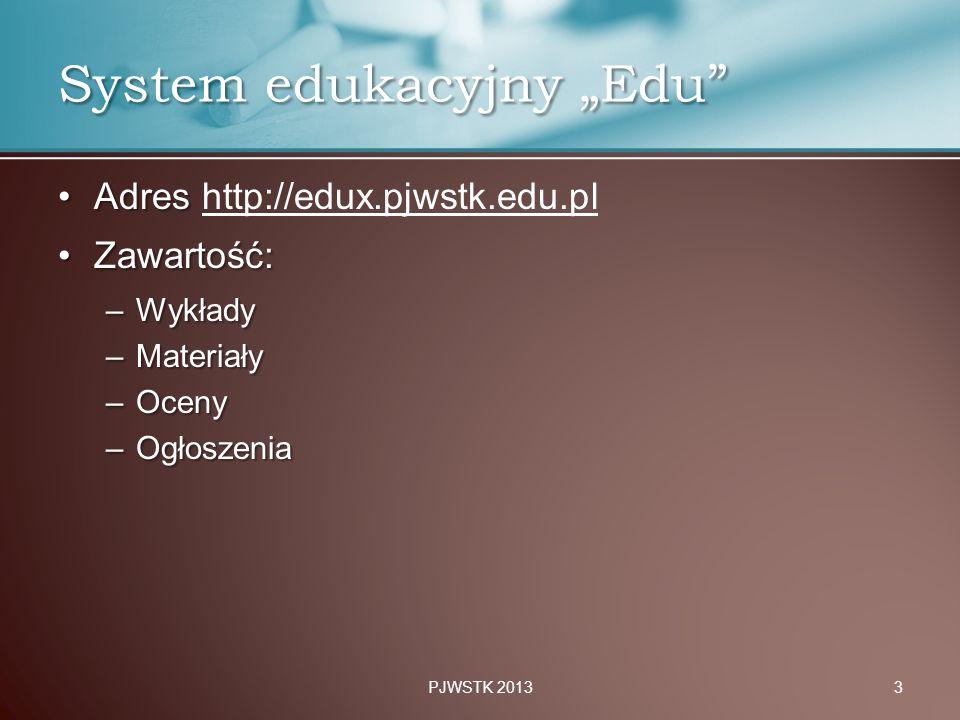 """System edukacyjny """"Edu"""