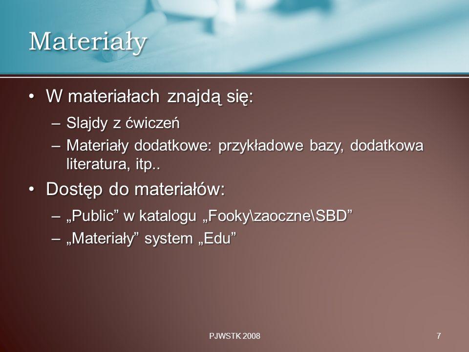 Materiały W materiałach znajdą się: Dostęp do materiałów: