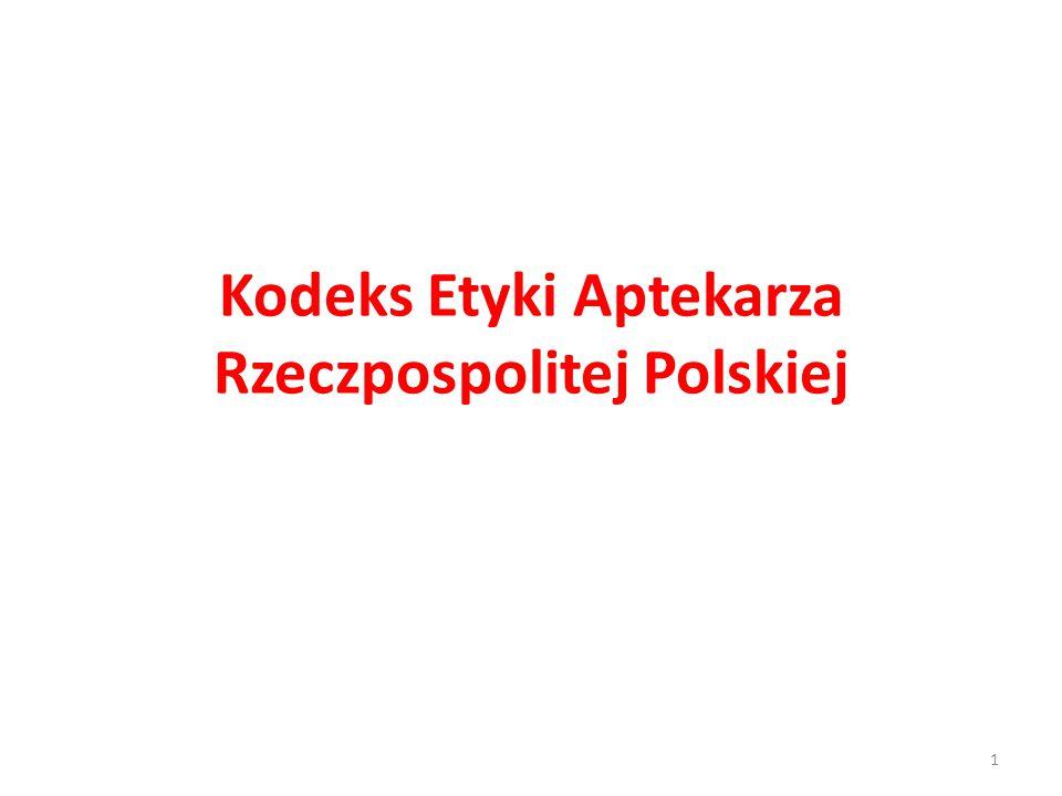 Kodeks Etyki Aptekarza Rzeczpospolitej Polskiej