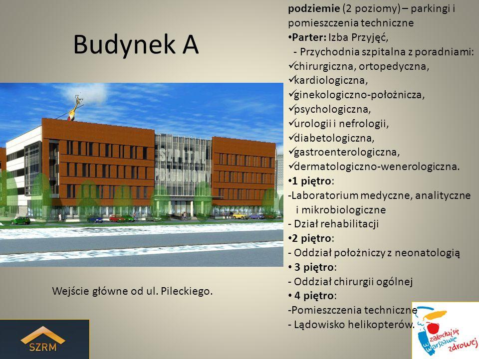 Budynek A podziemie (2 poziomy) – parkingi i pomieszczenia techniczne