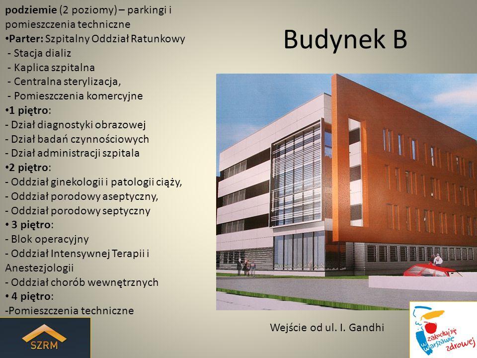 Budynek B podziemie (2 poziomy) – parkingi i pomieszczenia techniczne