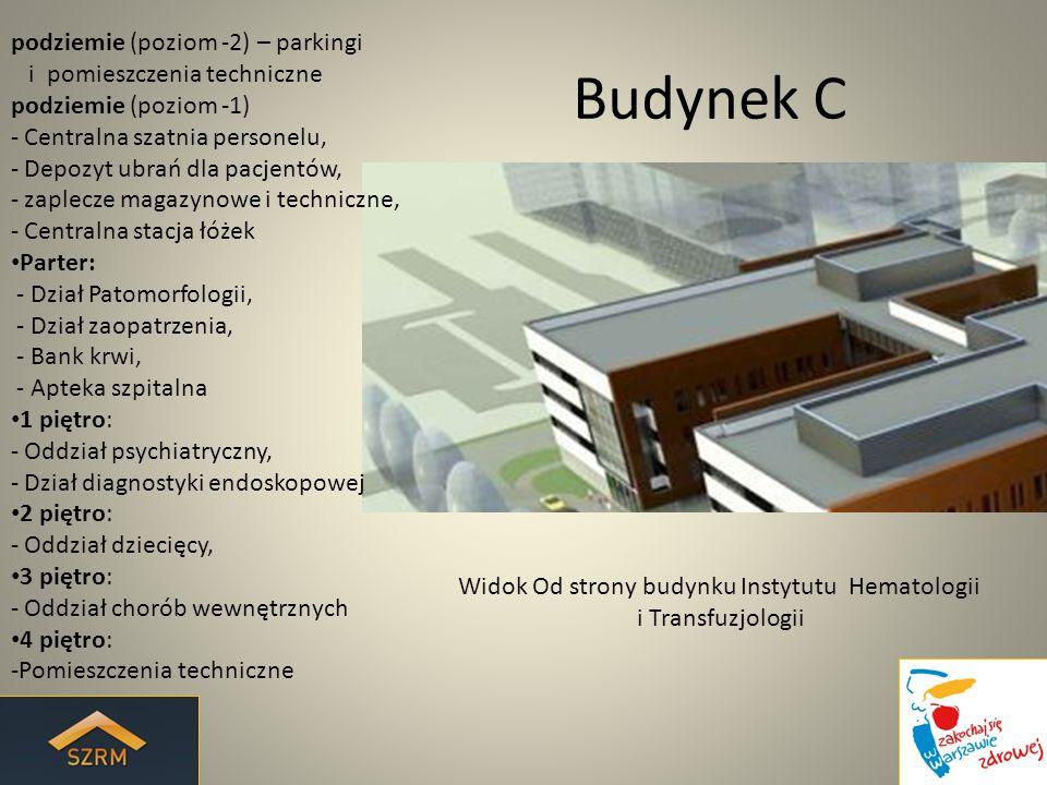 Widok Od strony budynku Instytutu Hematologii