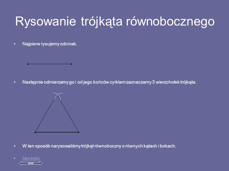 Rysowanie trójkąta równobocznego