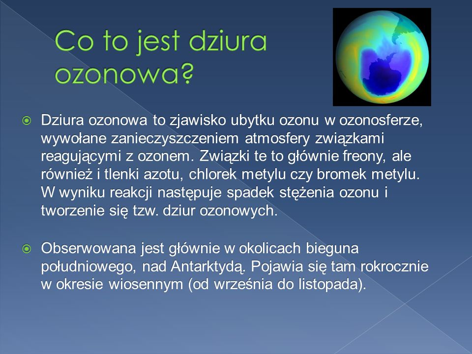 Co to jest dziura ozonowa