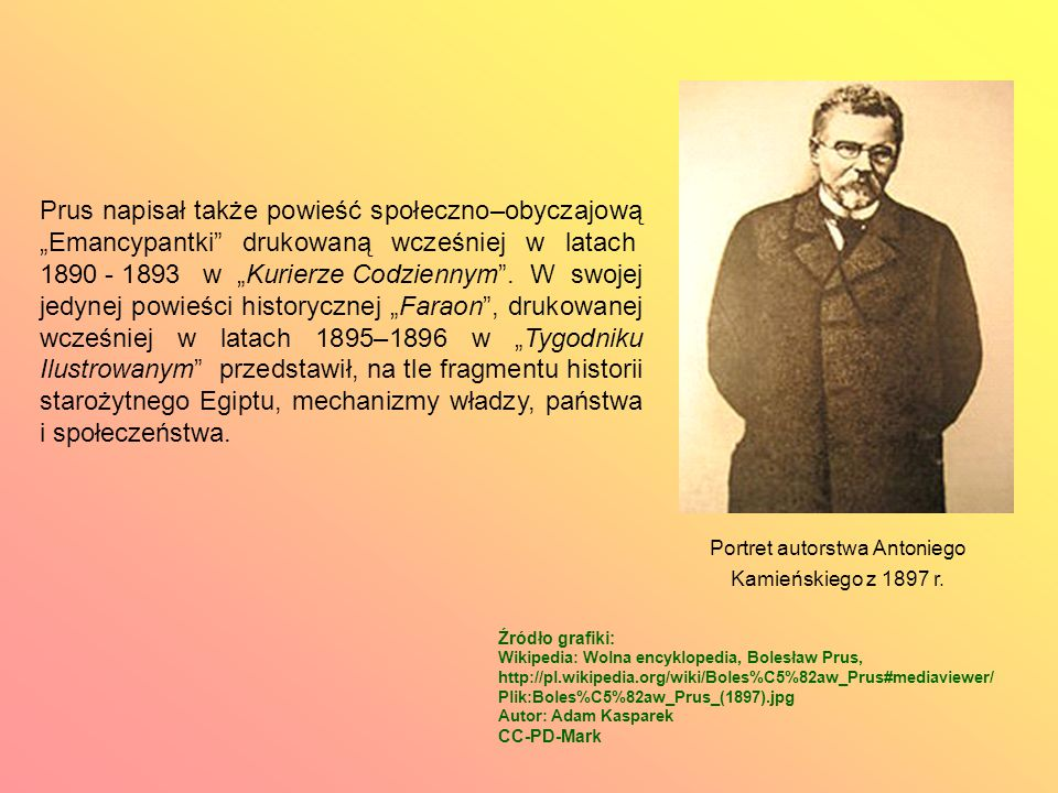 Portret autorstwa Antoniego Kamieńskiego z 1897 r.