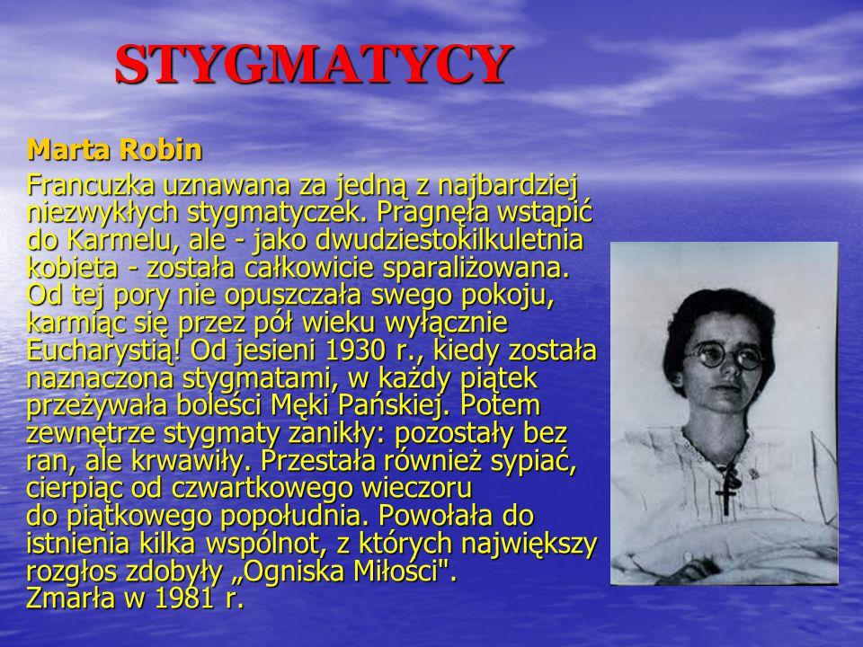 STYGMATYCY Marta Robin