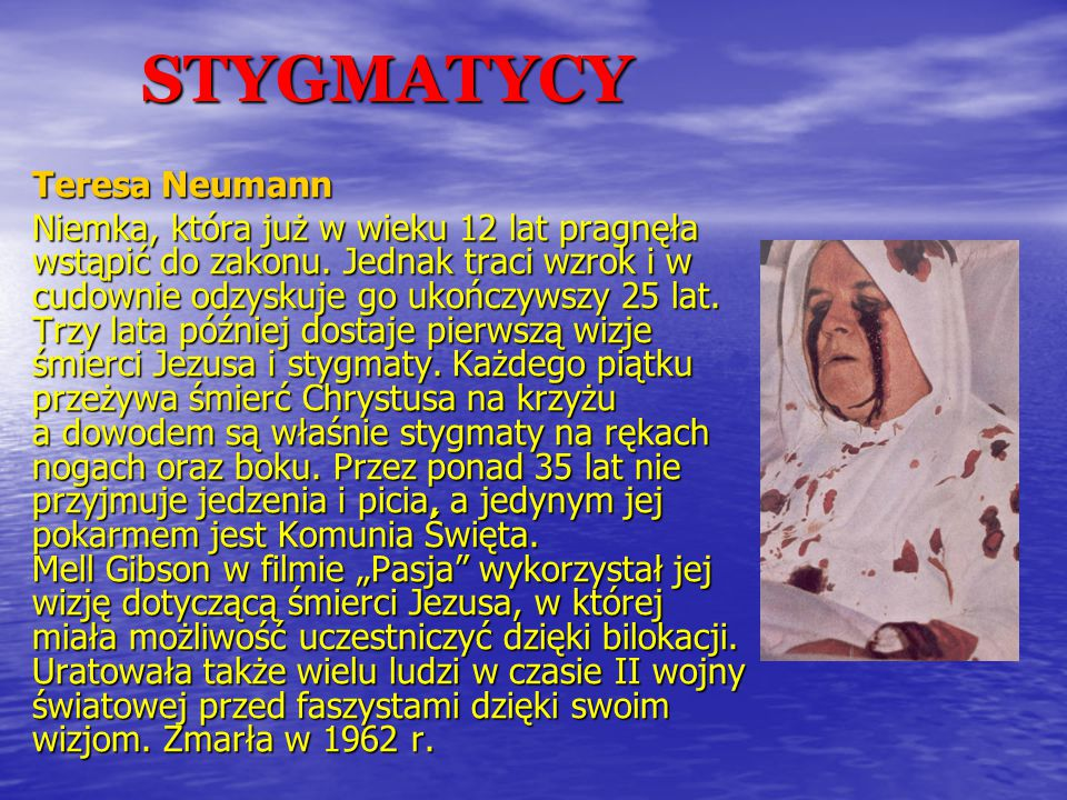 STYGMATYCY Teresa Neumann