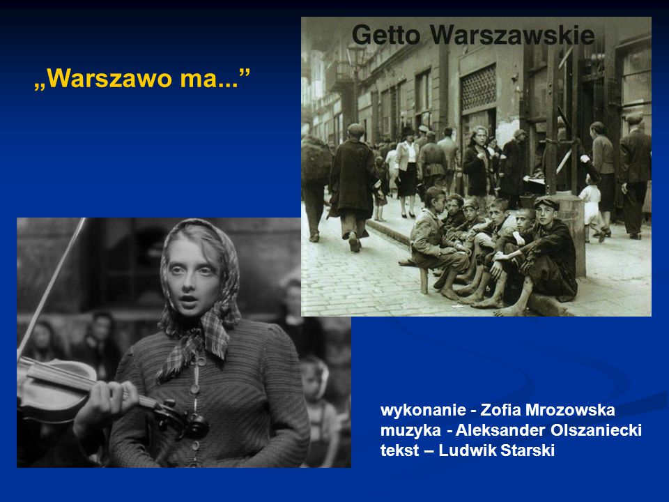 """""""Warszawo ma... wykonanie - Zofia Mrozowska"""