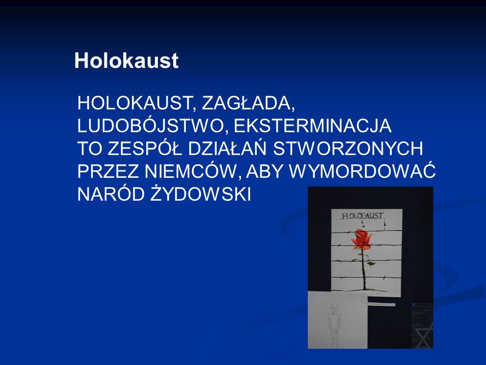 Holokaust HOLOKAUST, ZAGŁADA, LUDOBÓJSTWO, EKSTERMINACJA