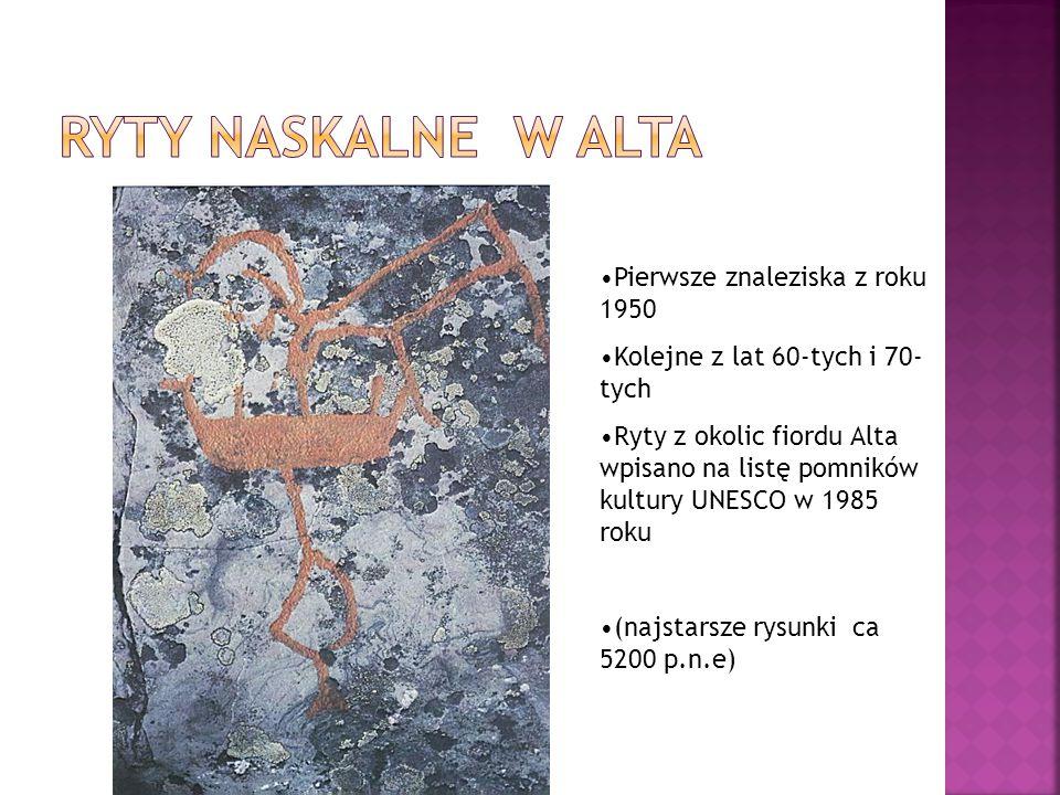 Ryty naskalne w Alta Pierwsze znaleziska z roku 1950