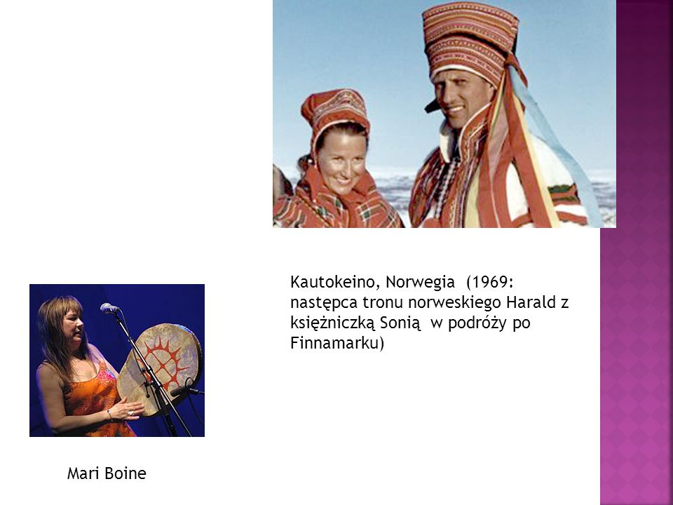 Kautokeino, Norwegia (1969: następca tronu norweskiego Harald z księżniczką Sonią w podróży po Finnamarku)