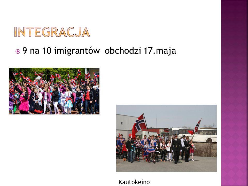 Integracja 9 na 10 imigrantów obchodzi 17.maja Kautokeino