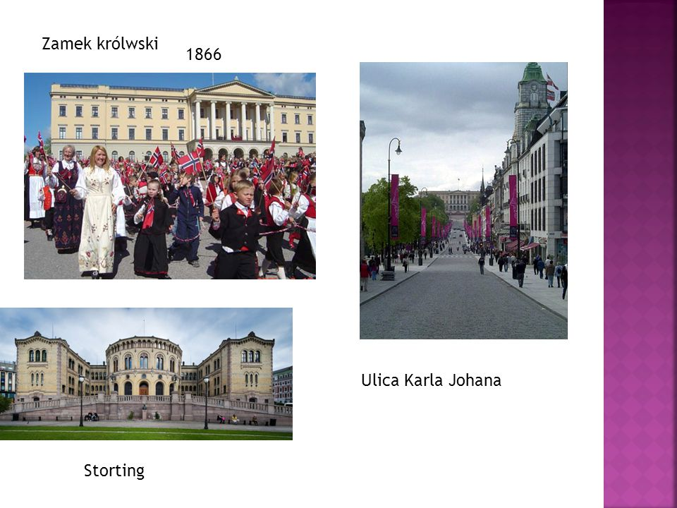 Zamek królwski 1866 Ulica Karla Johana Storting