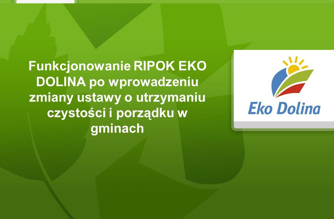Funkcjonowanie RIPOK EKO DOLINA po wprowadzeniu zmiany ustawy o utrzymaniu czystości i porządku w gminach