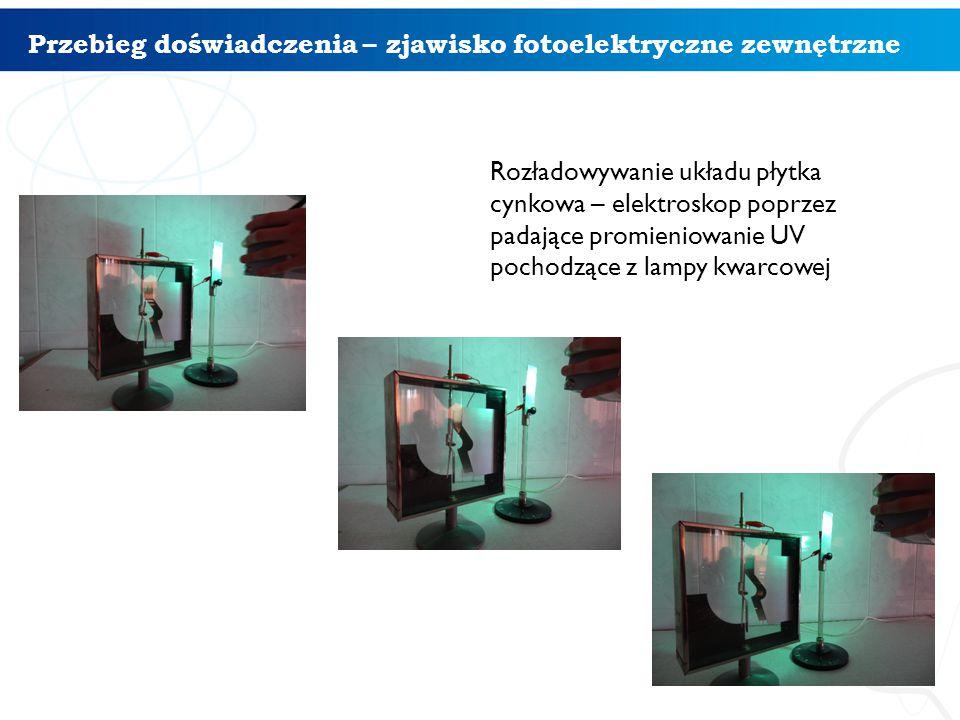 Przebieg doświadczenia – zjawisko fotoelektryczne zewnętrzne