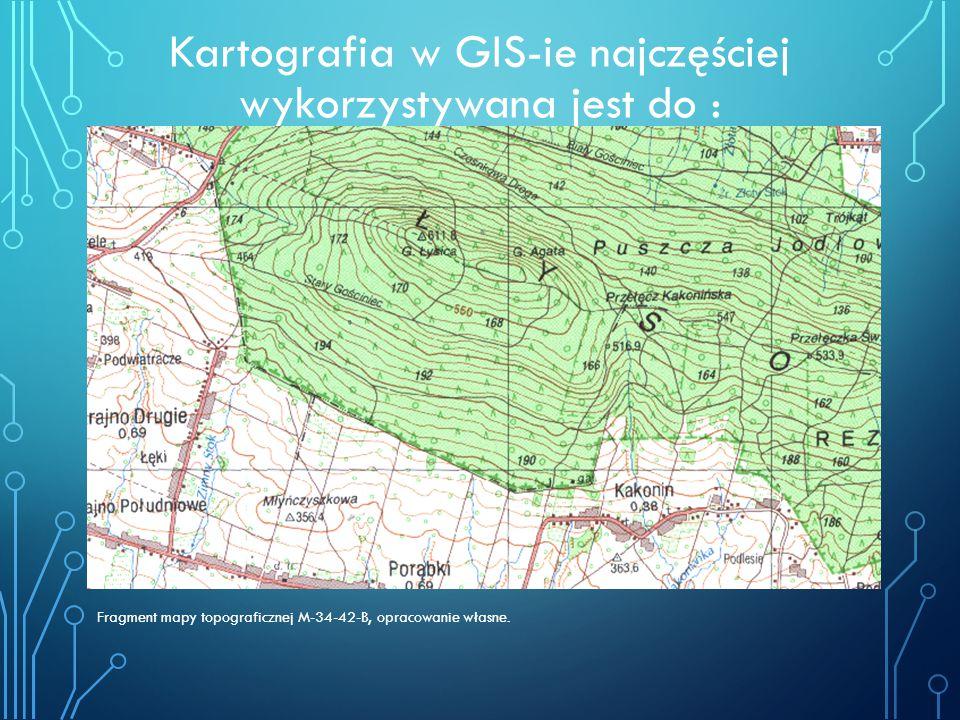 Kartografia w GIS-ie najczęściej wykorzystywana jest do :