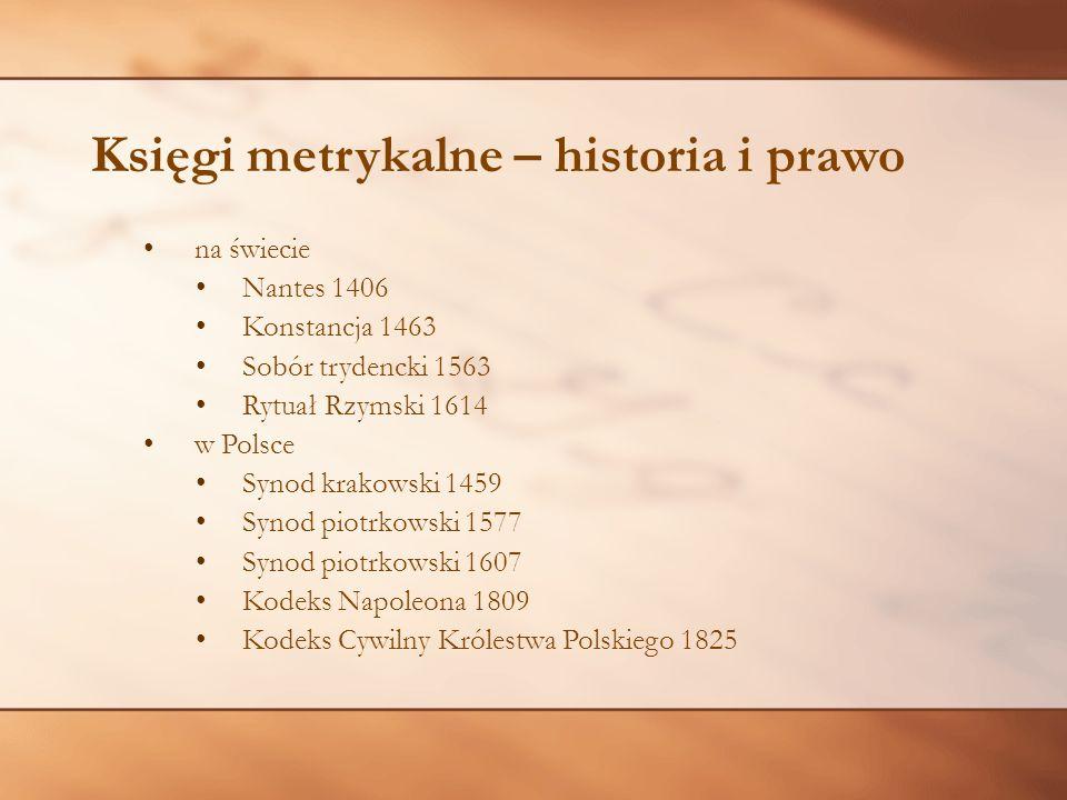 Księgi metrykalne – historia i prawo