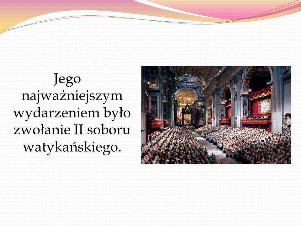 Jego najważniejszym wydarzeniem było zwołanie II soboru watykańskiego.