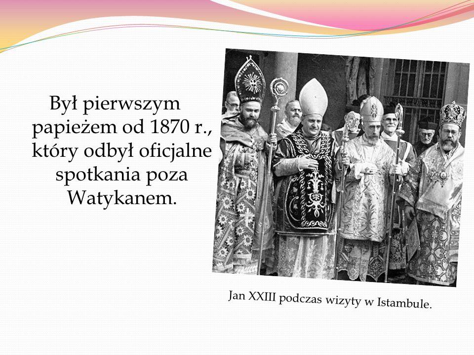 Był pierwszym papieżem od 1870 r
