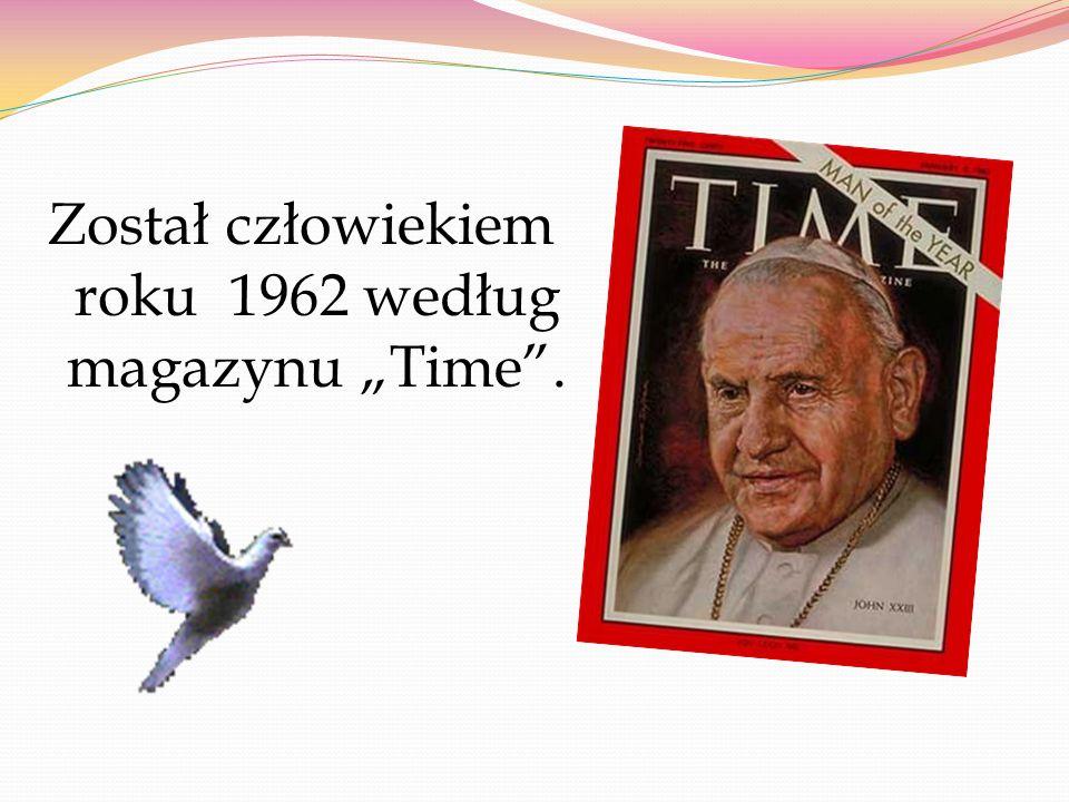 """Został człowiekiem roku 1962 według magazynu """"Time ."""