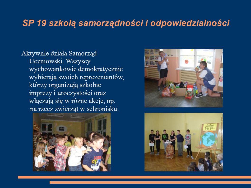 SP 19 szkołą samorządności i odpowiedzialności