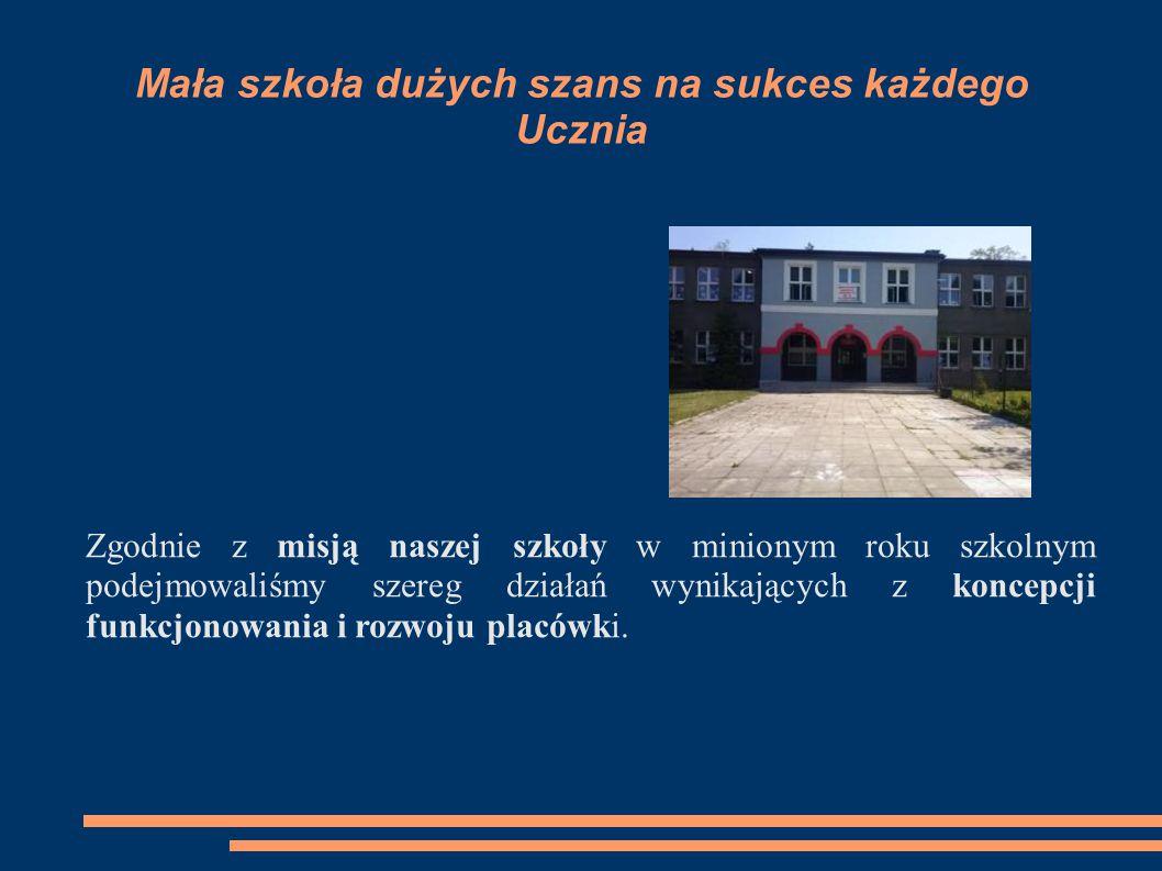 Mała szkoła dużych szans na sukces każdego Ucznia