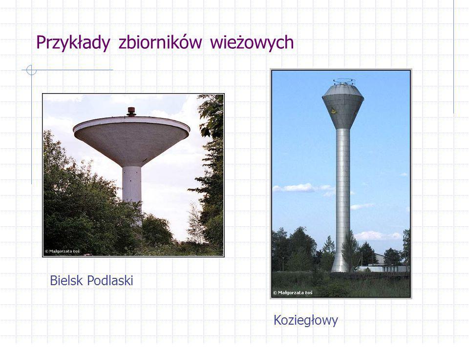 Przykłady zbiorników wieżowych