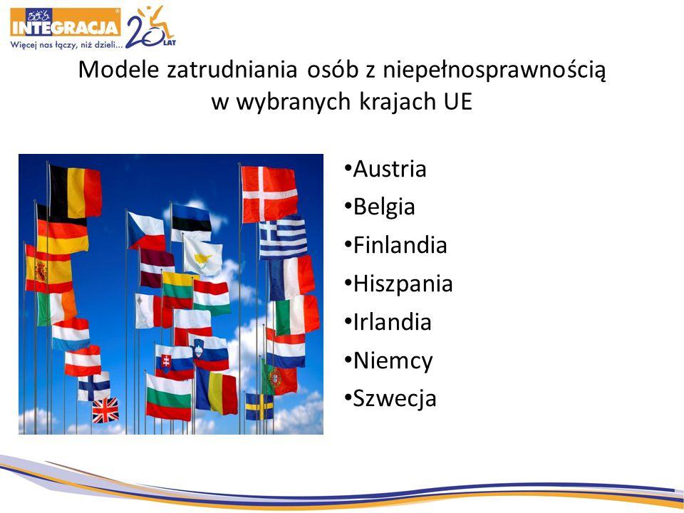 Modele zatrudniania osób z niepełnosprawnością w wybranych krajach UE