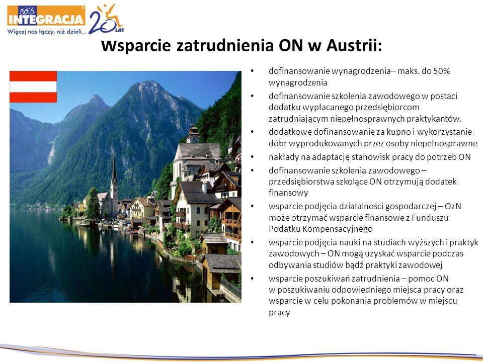 Wsparcie zatrudnienia ON w Austrii: