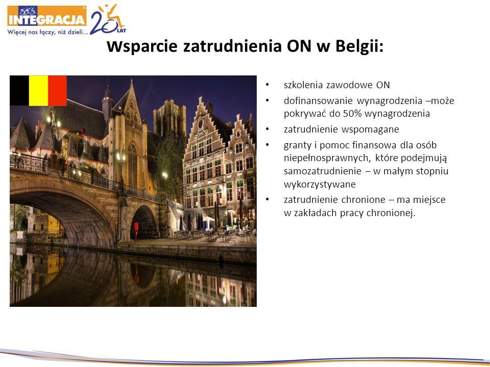 Wsparcie zatrudnienia ON w Belgii:
