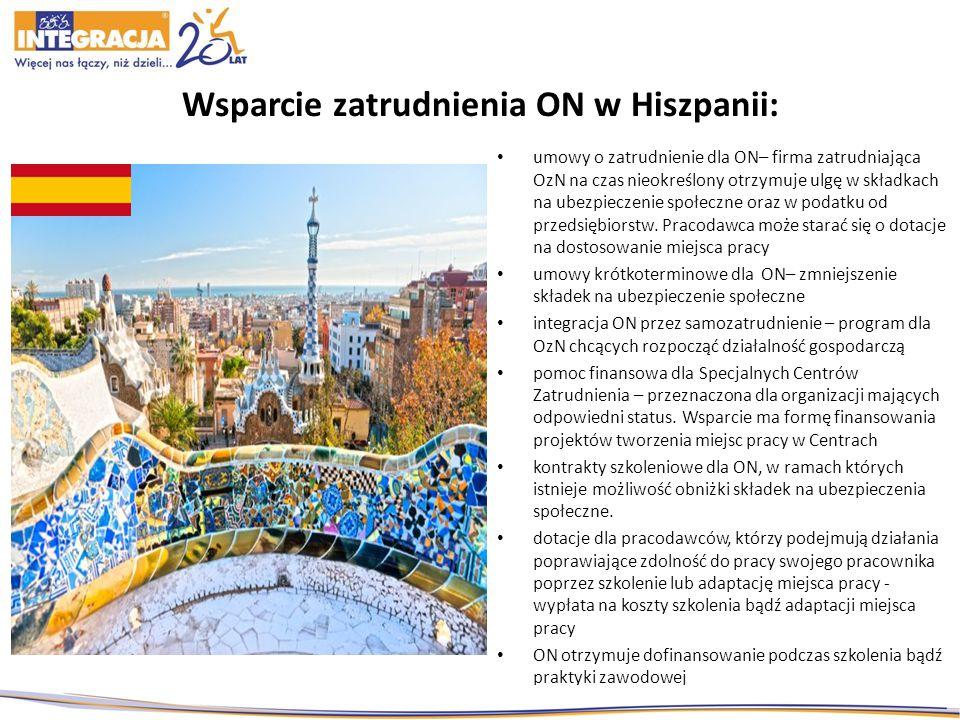 Wsparcie zatrudnienia ON w Hiszpanii: