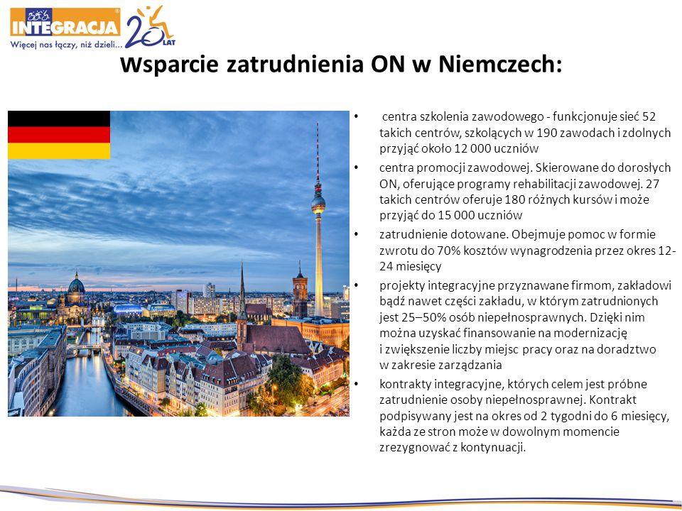 Wsparcie zatrudnienia ON w Niemczech: