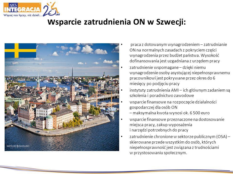 Wsparcie zatrudnienia ON w Szwecji: