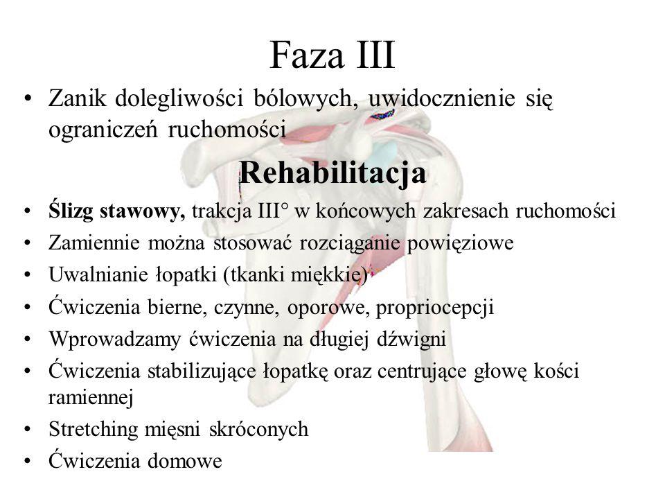 Faza III Rehabilitacja