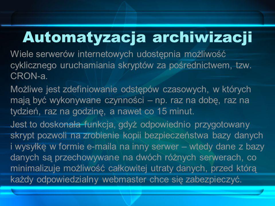 Automatyzacja archiwizacji